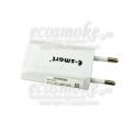 Плоский сетевой адаптер питания E-smart (USBx1)  500мАч